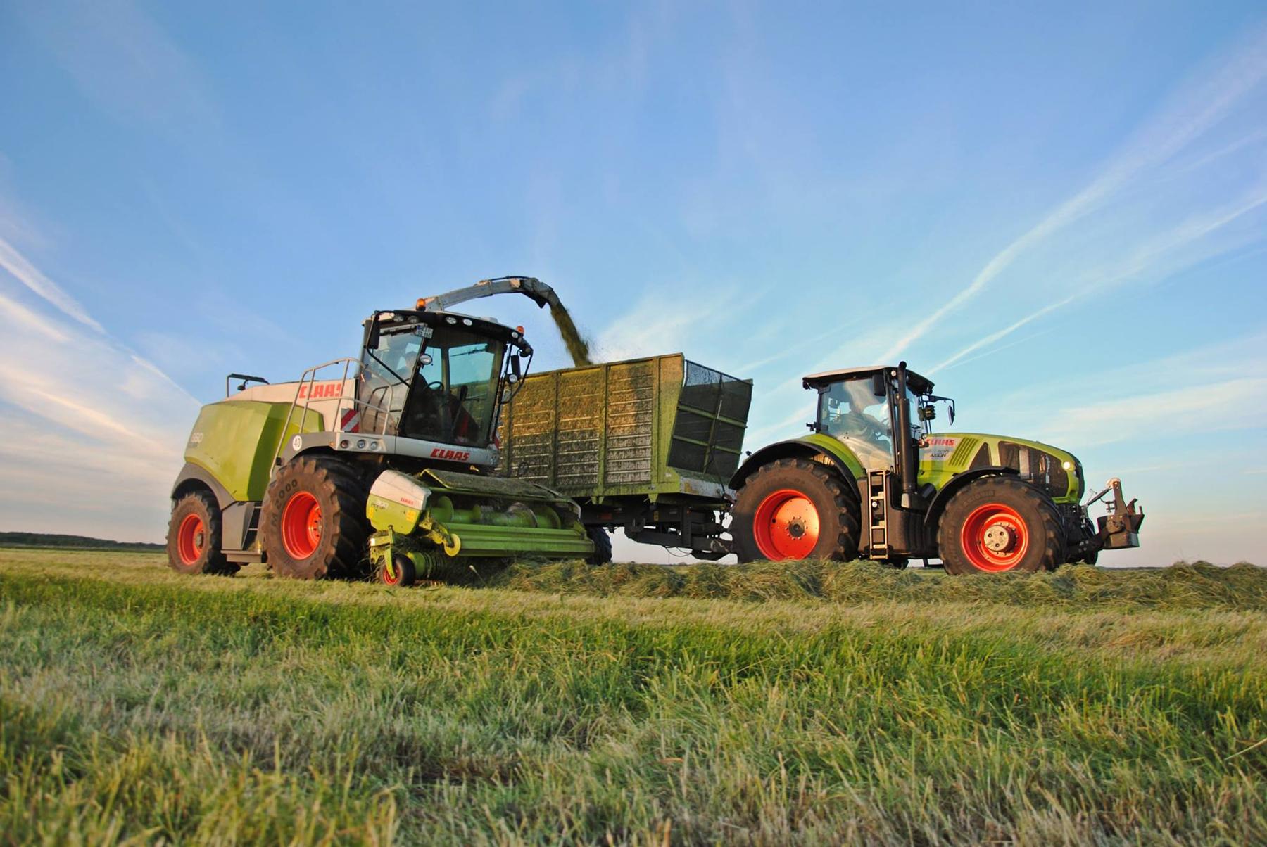 Gras häckseln mit dem Lohnunternehmen Beckmann aus Dithmarschen